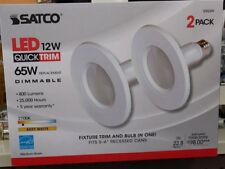 Satco LED 12 watt Quick Trim 65 watt replacement light bulb pack of two  - NEW