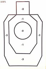 Paper Shooting Targets IDPA Silhouette Gun Pistol Rifle B-27 Qty:20 23x35
