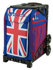 Zuca Bag Union Jack Insert & Black Frame w/Non-Flashing Wheels-Free Seat Cushion