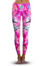 Om Shanti 2nd Gen Grateful Unicorn Eco-Friendly Active Performnce Leggings Large