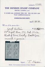 SG 283 2 1/2d Bright Blue M18 (2) double gum very fine & fresh LM Hendon (17868)