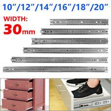 """10""""-20"""" Drawer Slides Track 3-Fold Rails Cabinet Roller Furniture Hardware x2 9"""