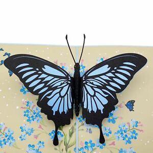 Blue Butterfly 3d pop up card