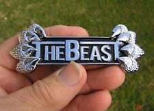 Ford - THE BEAST - METAL BADGE Chrome Car Emblem *NEW* suits Falcon XR6 XR8 etc