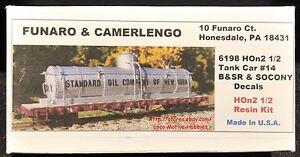 Funaro F&C 6198 HOn30  BRIDGTON SACO RIVER Tank Car #14 B&SR SOCONY Standard Oil