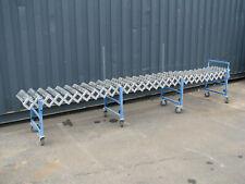 Accordion Expandable Roller Conveyor - 4m long