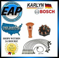 For Mercedes 420SEL 560SEC Ignition Spark Plug Wire Distributor Cap Rotor Kit
