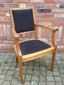 schöner antiker Bürostuhl, Sessel, Stuhl, Lehnstuhl, Polsterstuhl
