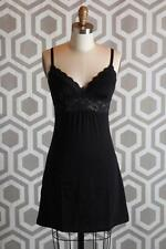 NWT Cosabella Never Say Never Floral Lace-Trim Babydoll Dress Black Small S $120