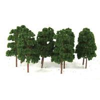 10Pcs Trees Model Train Railway RR Wargame Diorama Scenery Layout 12.5cm HO