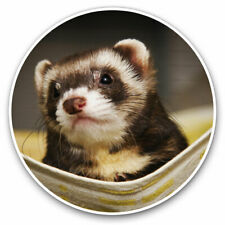 2 x Vinyl Stickers 7.5cm - Ferret Hammock Pet Rodent Animal Cool Gift #16329