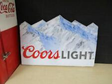 Rare Coors Light Beer Bar Man Cave Sign Double Sided Plastic Door Rocky Mountain
