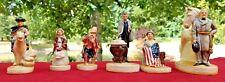 Sebastian Miniatures Lot (6) Figurines Vintage American History Statesmen