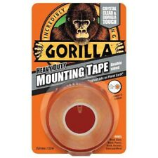 Gorilla Glue Mounting Tape Heavy Duty Double Sided Weatherproof Crystal Clear