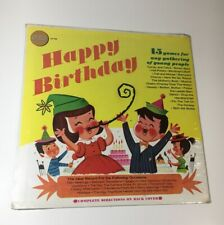 Happy Birthday Party LP Golden Records 15 Games LP-129~Rare