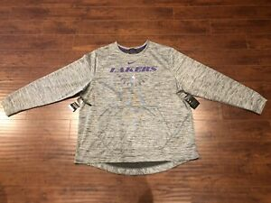 Los Angeles Lakers NBA Nike Travel Crewneck Player Team Issued Gray Size XXL