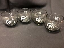 Vintage NFL Los Angeles Rams Smoked Glasses Set of 4!  Great Conditon