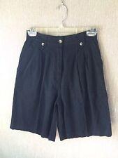 Women's Signature Expressions Linen/Cotton Black Shorts Size 6