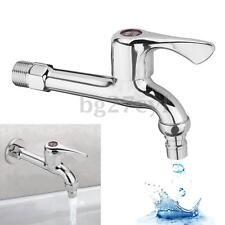 Bathroom Washing Machine Wall Tap Mount Extra Long Water Faucet Sink Laundry