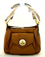 MIMCO MOLTEN HOBO LEATHER BAG IN HONEY WITH GOLD HARDWARE BNWT RRP$499