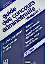++BOURSIN/FINNISS guide des concours administratifs cat C 1993 BELIN EX++