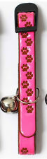 ONE REFLECTIVE CAT COLLAR & BELL, in Pink, Yellow, Orange or Silver POSTED FREE