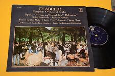 CHABRIER LP OVERTURE, SUITE PASTORALE.. ORIG USA EX+ ! AUDIOFILI TOP CLASSICA