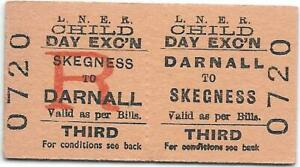 LNER Railway ticket : Darnall - Skegness