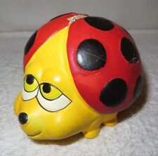 Vintage Ladybug Bank -- Very Cute!  Bright Colors!!