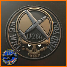 U-28A WE WILL FIND YOU PVC MORALE PATCH, HURLBURT & CANNON GLOW IN THE DARK EYES