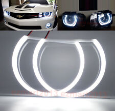 LED Cotton Halo Rings For Chevrolet Camaro 2010-2015 Angel Eyes Headlights DRL