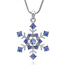 Blue Snowflake Necklace for Bridesmaid Flower Girl Prom Bridal Jewelry