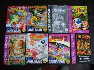 Lot of Sega Game Gear / Master System Manuals !!!