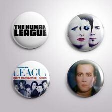 4 THE HUMAN LEAGUE - Pinbacks Badge Button Pin 25mm 1''