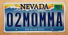 "NEVADA VANITY LICENSE PLATE "" 02 MOMMA "" I OWE MOM MOMMY MOTHER"