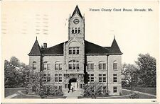 Vernon County Court House in Nevada MO Postcard 1950