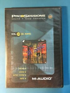 M-AUDIO ProSessions Vol 34 Da Joints Sound Loop Libraries Used Free Shipping
