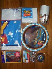 6pc Lot 1995 Party Express Toy Story Birthday Party Goods Multi-color NOS