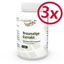 Pack de 3 Extrait d'algue brune 500mg 360 Capsules Vita World