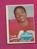 1960 TOPPS # 120 SAN FRANCISCO ABE WOODSON  NRMT CARD (INV# A4127)
