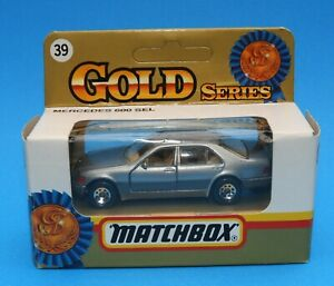1993 Matchbox Gold series No.39: Mercedes 600 SEL - 1991 Benz with opening doors