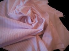 """1930s~27X29"""" Butter Soft Pink Ticking Broken Double Stripe~Doll Dressing~ExCon"""