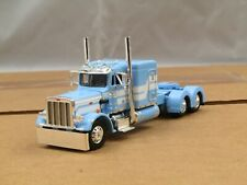 "Dcp powder blue/white Peterbilt 359 63""flattop tractor new no box"