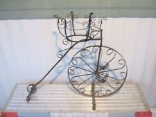 Beautiful Ornate Antique Vintage Wrought Iron Bicycle Planter Garden Decor