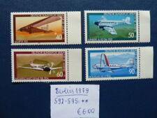 Berlin 1979, Jugend: Luftfahrt, Michel 592 - 595, **
