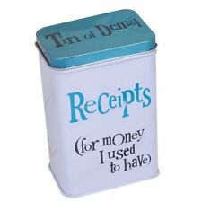 Bright Side Receipts Tin - For Money I Used To Have- Receipt Storage Tin