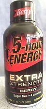 Extra Strength Berry Flavor 5 Hour Energy, 72 Packs-1.93 oz/Pk, Free Shipping