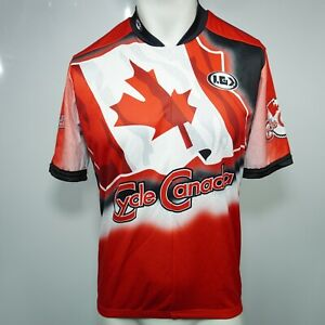 Louis Garneau Cycle Canada Cycling Jersey 3/4 Zip Men's Large