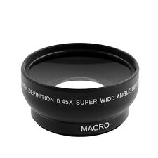 0.45x 52mm Super Fisheye Wide Angle Fixed Focus Lens For Canon Nikon Pentax Sony