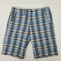 Hugo Boss Orange Men's Shorts Blue White Black Plaid 34 waist